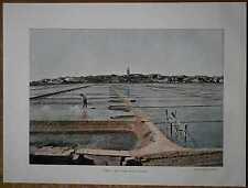 ca.1895 French photochrom SALTWORKS NEAR CAPODISTRIA / KOPER, SLOVENIA (#203)