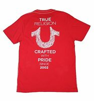 True Religion Brand Jeans Men's Crafted W Pride Shoestring Logo Tee T- Shirt