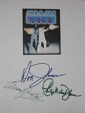 Miami Vice Signed TV Script X3 Don Johnson Edward James Olmos Thomas reprint