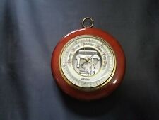 """Welby Made in Germany Wooden and Glass Barometer with Hook for Hanging Welby 6"""""""
