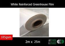White Reinforced Greenhouse Film  2M x 25M 185GSM