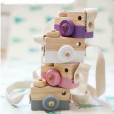 Kids Wood Camera Toy Xmas Children Room Decor Natural Safe Wooden Camera Fresh