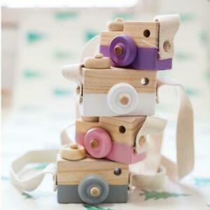 Cute Kids Wood Camera Toy Xmas Children Room Decor Natural Safe Wooden Camera#nl