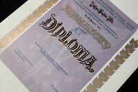 "Diploma DIAMANT ""C"" JNA Army RV I PVO Yugoslavia 1980's SPECIMEN Josip Broz Tito"