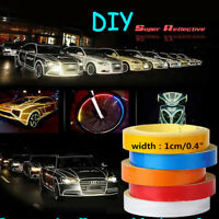 5m Car Bike Reflective 6Type Rim Tape Wheel Sticker Trim Motorcycle Luminous Red