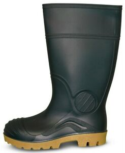Traxium Green Mens All Purpose Non-Safety Gumboots - Brand New