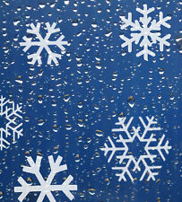 16 X Snowflake  stickers  19mm - 45mm/ patio windows/ glasses