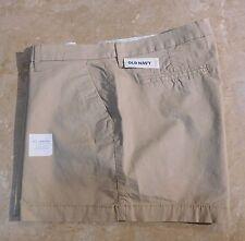 "1103  Old Navy Khaki/ Tan/ Beige Cotton Twill 3.5"" Length Shorts 12"