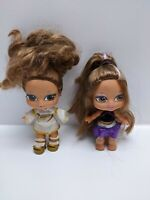 Baby Bratz Dolls - Set of 2 Yasmin 1 x Lil Dancer No Base 12 cm High- Pre-owned