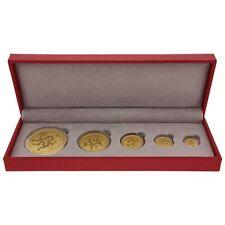 "1.9 oz 5 Coin Set Australia 2012  Lunar Series II ""Year of the Dragon"""