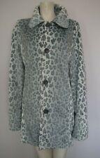 Dennis By Dennis Basso Reversible Faux Fur Leopard Print & Grey Coat Sz M