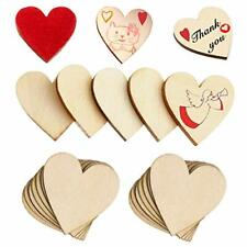 120Pcs Wood Heart Slices 2 Inch Wooden Blank Heart Unfinished DIY Crafts Slic...