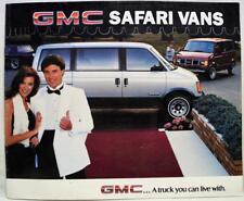 1985 GMC SAFARI VAN DEALERS ADVERTISING INFORMATION SALES BROCHURE GUIDE VINTAGE