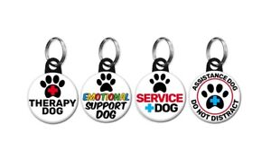 Service Dog Pet Tags (25mm,1inch,medical alert,assistance,support,therapy,id)