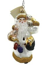 Patricia Breen Stanzis Kittens Pearl Gold Christmas Tree Ornament Glass