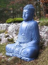 Buddha Statue, Blue Buddha Figure, Garden Decor, Concrete Buddha, Cement Buddhas