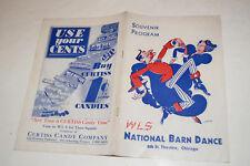 Vintage Souvenir Program WLS Chicago National Barn Dance 1942