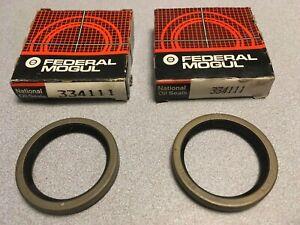 PAIR: National 334111 Rear Inner Wheel Seal fits Nissan Datsun 310 Pulsar NX