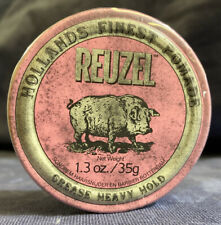 REUZEL PINK Strong Heavy Hold Grease Pomade Piglet Size 1.3Oz 35g NEW