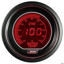 PROSPORT 52mm EVO Series Digital Red / Blue Led Water Temperature Gauge Celsius