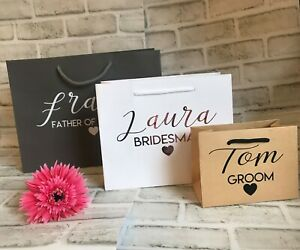 Personalised Wedding Gift Bags ~ Luxury ~ Classy ~ Rose Gold ~ Wedding Thank You