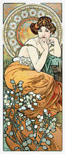10% off Scarlet Quince Counted X-stitch Chart-Topaz by Alphonse Mucha-Lge Print