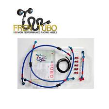KIT TUBI FRENO FREN TUBO ACCIAIO RIVESTITO BLU YAMAHA TMAX 500 2001 - 2003