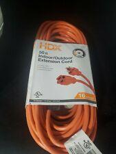HDX 50 ft. 16/3 Light-Duty Indoor/Outdoor Extension Cord
