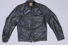 40s Vintage Taubers of California Motorcycle Rider Horsehide Leather Jacket M