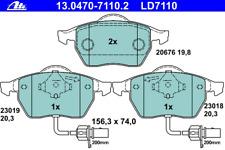 Bremsbelagsatz Scheibenbremse ATE Ceramic - ATE 13.0470-7110.2