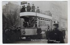 NEW ELECTRIC TRAM CAR, LINCOLN: Lincolnshire postcard (C35137)