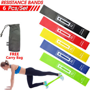RESISTANCE BANDS SET OR SINGLES - LATEX EXCERCISE GLUTES YOGA PILATES HOME GYM
