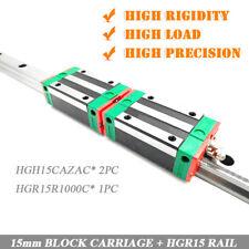 HGR15 HIWIN Linear Rail Guide L1000mm +2pc HGH15CA Block CNC Engraving Original
