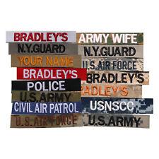 Custom Name Tape, Military Nametape, Embroidered Name Patch, Police Name Tape