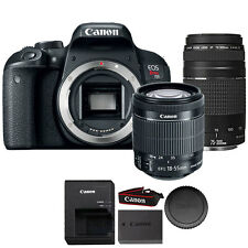 Canon EOS Rebel T7i 24.2MP DSLR Camera + 18-55 IS STM + 75-300mm Lens Kit