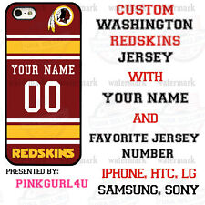 WASHINGTON REDSKINS PHONE CASE COVER FOR iPHONE SAMSUNG LG MOTO WITH NAME#.