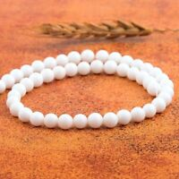 Wholesale Natural White Alabaster Gemstone Round Beads Matte Loose Beads 8MM