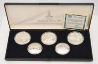 Coin Münzen Münzsatz Moskau 1980 Olympiade 900 Silber Rubel polierte Platte