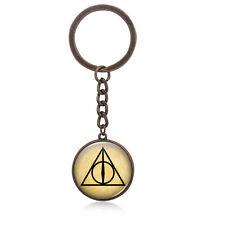 Harry HP Keychain Deathly Hallows Pattern Keychain Christmas Birthday Gift