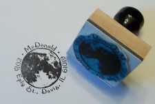 Custom Moon rubber stamp for Address, Ex Libris or Bookplate by Amazing Arts
