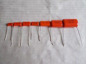 Orange Drop® Capacitor, Polypropylene Film/Foil, CDE 716P (.001 µF-.22 µF) 400V
