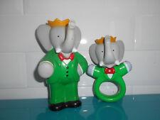 17.12.10.3 Lot Pub Pampers hochet et pouet ancien figurine BABAR 1990 Brunhoff