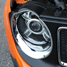 Chrome Front Headlight Lamp Surround Cover Trim For Jeep Renegade 2014 2015 2016