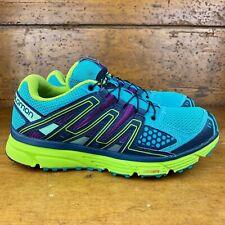 Salomon X-Mission 3 Women's Trail Running Shoe Sz 8 Teal/Green/Passion Purple