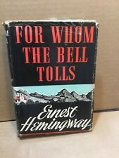 For Whom the Bell Tolls by Ernest Hemingway (1943 HC w/DJ) RARE Early Printing