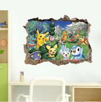 Pokemon 3D Peel and Stick Wall Decals Stickers Vinyl Mural Kids Room Decor UK