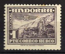 Andorra ( Correo Español ) : 1 Peseta 1951 Correo Aereo MNH