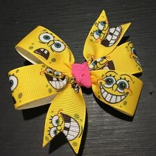 3inches Sponge Bob Pin Wheel Hair bow Alligator Clip