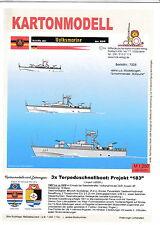 MDK-Verlag 7008-Scatola di cartone modello - 3x TS-boot progetto 183-Marina Popolare - 1:250