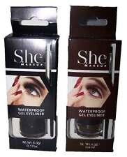 Waterproof Gel Eyeliner Long Lasting Black or Dark Brown By She (CosGel Z)